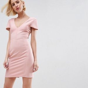 NWT ASOS Seamed Structured Rib Bodycon Dress 12